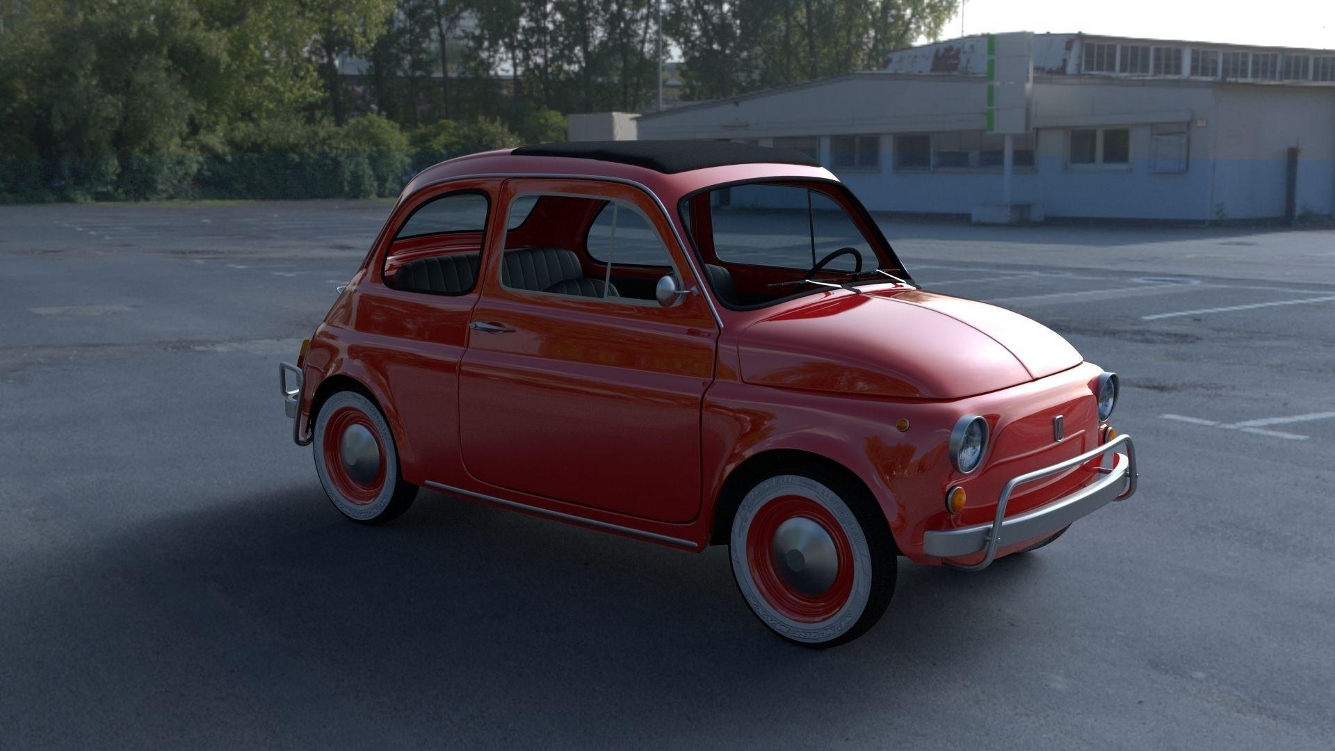 Fiat 500L Luxe 1968 with interior HDRI