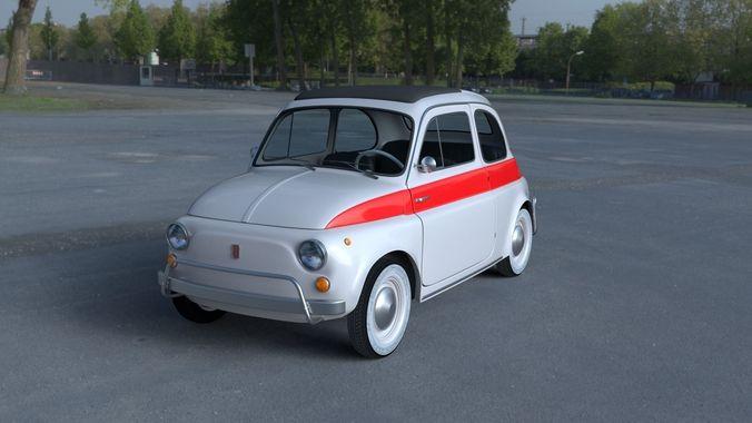 Fiat 500 Nuova Sport 1958 With Interior Hdri 3d Model 3d Model
