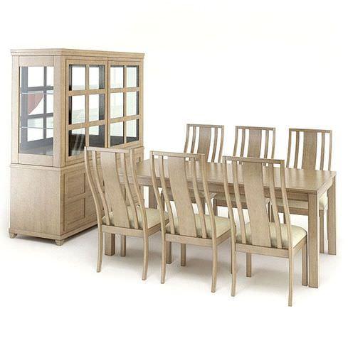Elegant Dining Room Set3D model