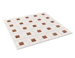 3D White Tile Flooring
