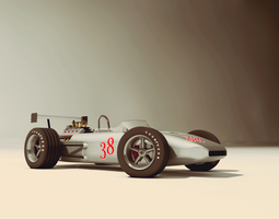 Race Car old style 3D Model