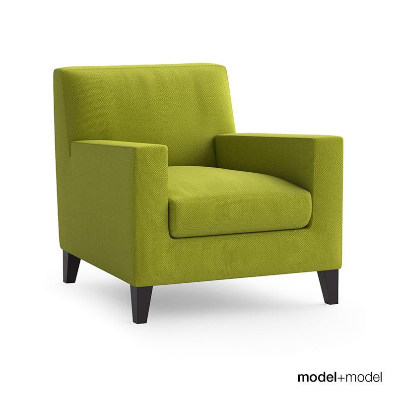 Ligne roset citta sofa and armchair free 3d model max for Divan furniture models