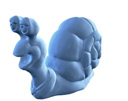 hi-poly snail figurine 3d print model
