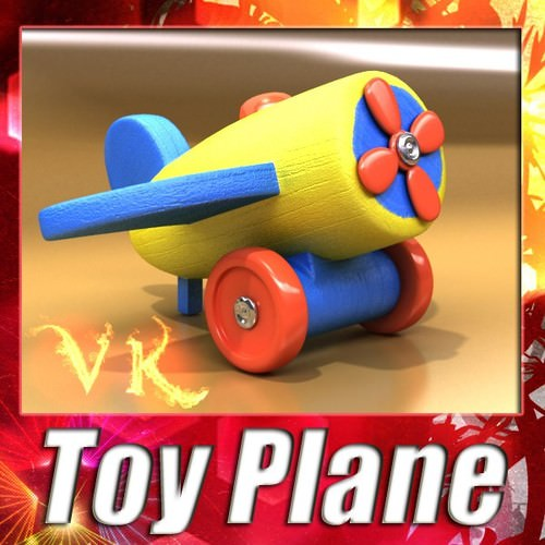 Wooden Toy Plane3D model