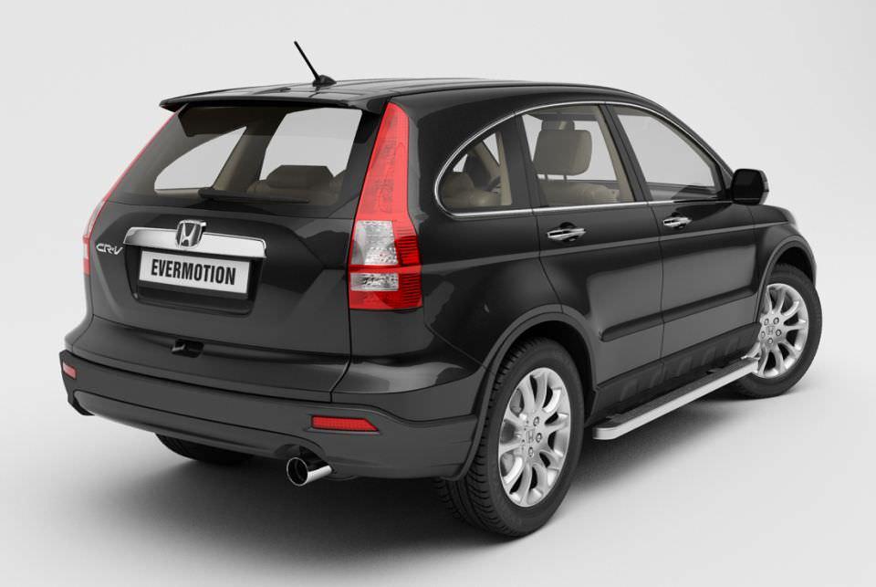 Car honda cr v black 3d model for Honda black car