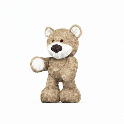 Fluffy Childs Teddy Bear3D model