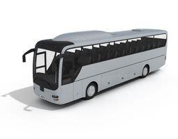 white coach bus 3d model