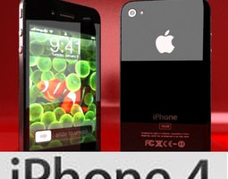 apple iphone 4 high detail 3d