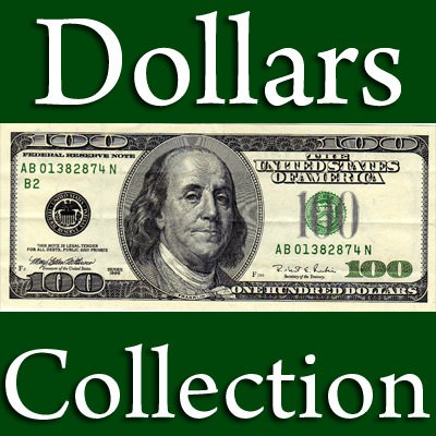 Us Paper Money Collection 21 Items Model