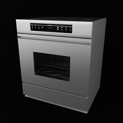 Simple Kitchen Appliances: Simple Modern Style Oven 3D Model