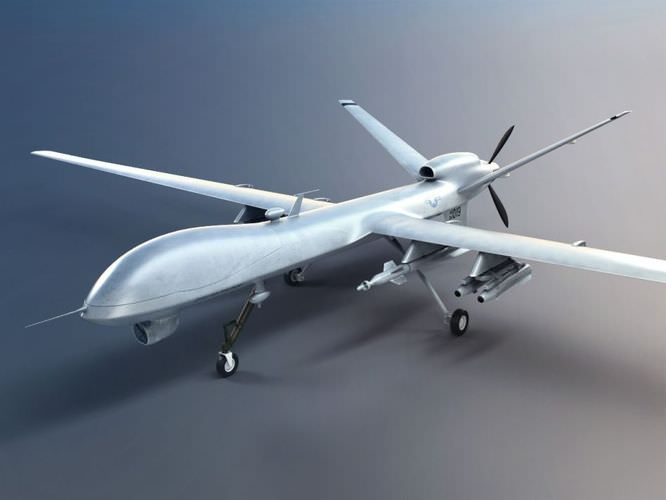 Military Combat Drone 3d Model Cgtrader Com