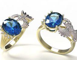 gold printable 3D printable model Ring