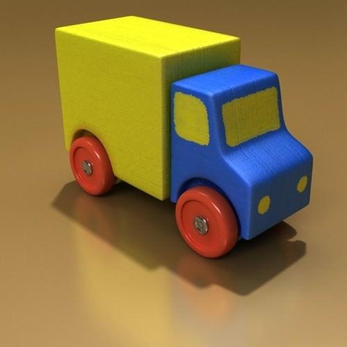 Wooden Toy Truck 3D Model .max .obj .3ds .fbx - CGTrader.com