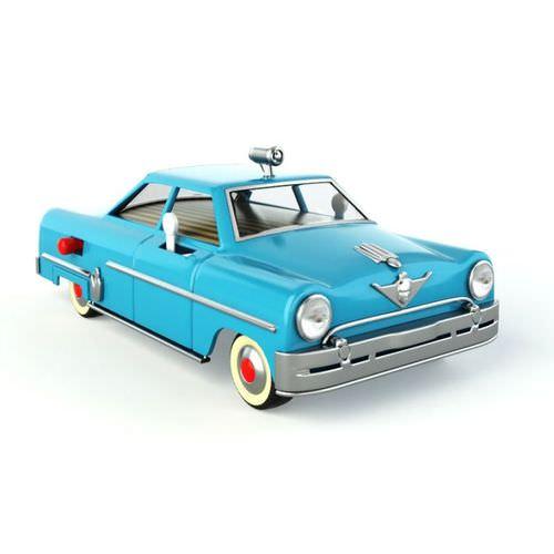 Antique Blue Toy Car3D model