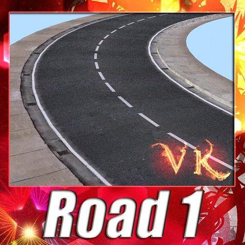 realistic road high res 5980 x 4248 3d model max obj mtl 3ds fbx mat 1