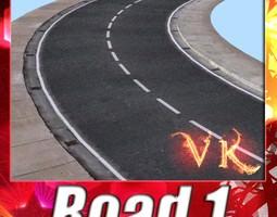 Realistic Road High Res 5980 x 4248 3D Model