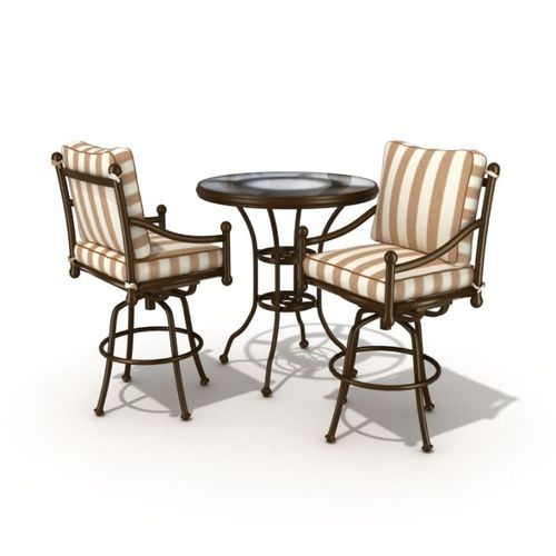 Two Chairs And Table Set3D model