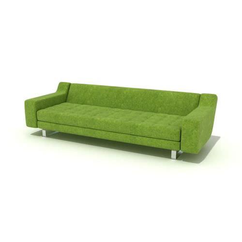 modern green couch 3d model