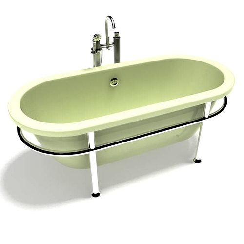 Superbe Old Fashioned Bath Tub 3D Model