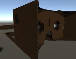 Headset VR Cardboard  3D Model