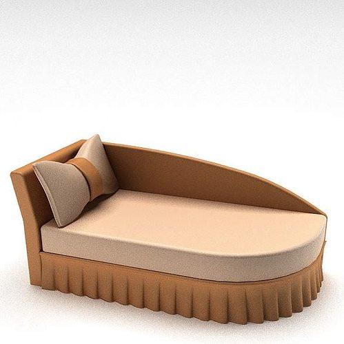 tan lounge chair 3d model  1
