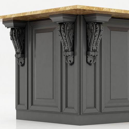 Kitchen Island Cabinet Model Max Obj Fbx Mtl