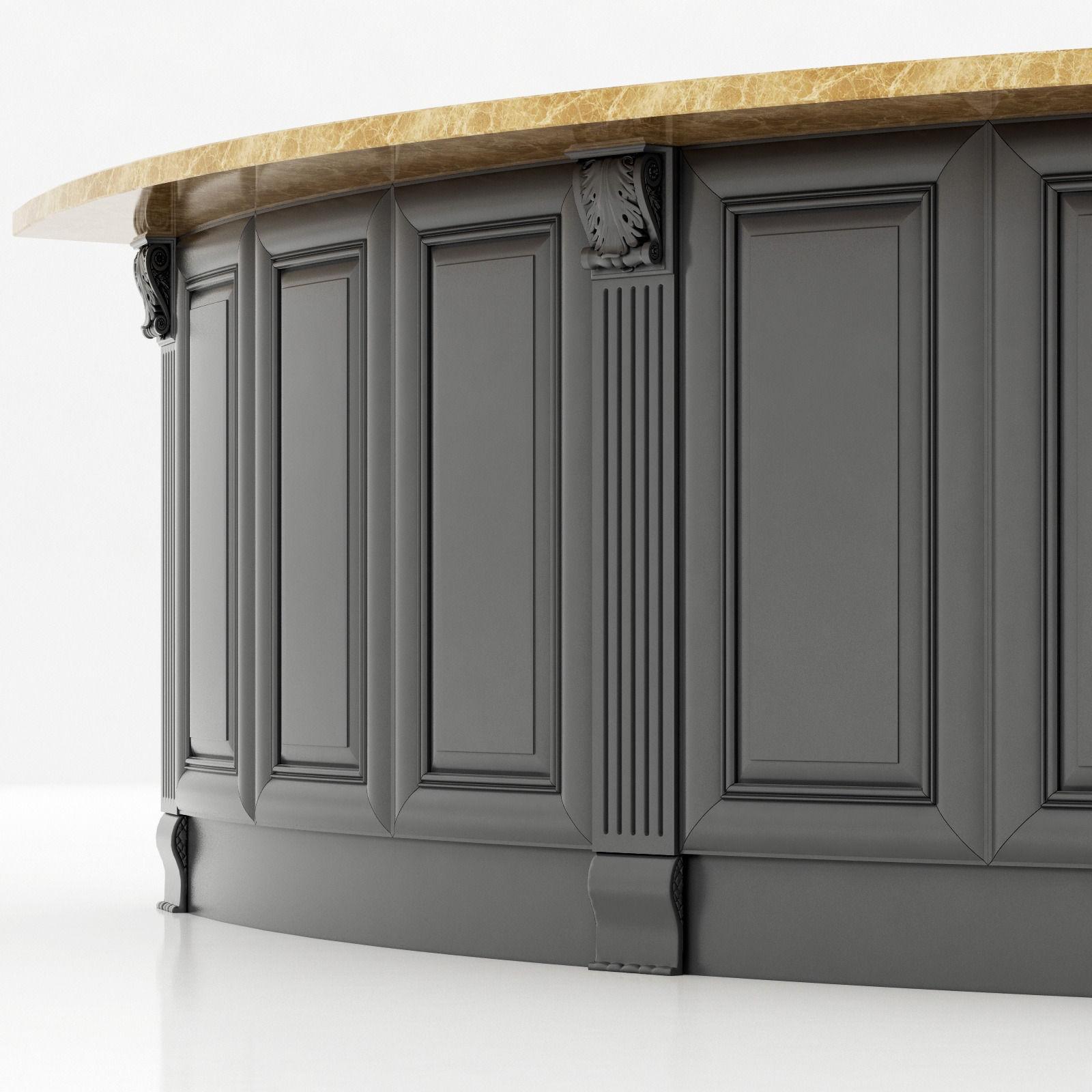 Kitchen island lyn design -  Kitchen Island Cabinet 3 3d Model Max Obj 3ds Fbx Mtl 2