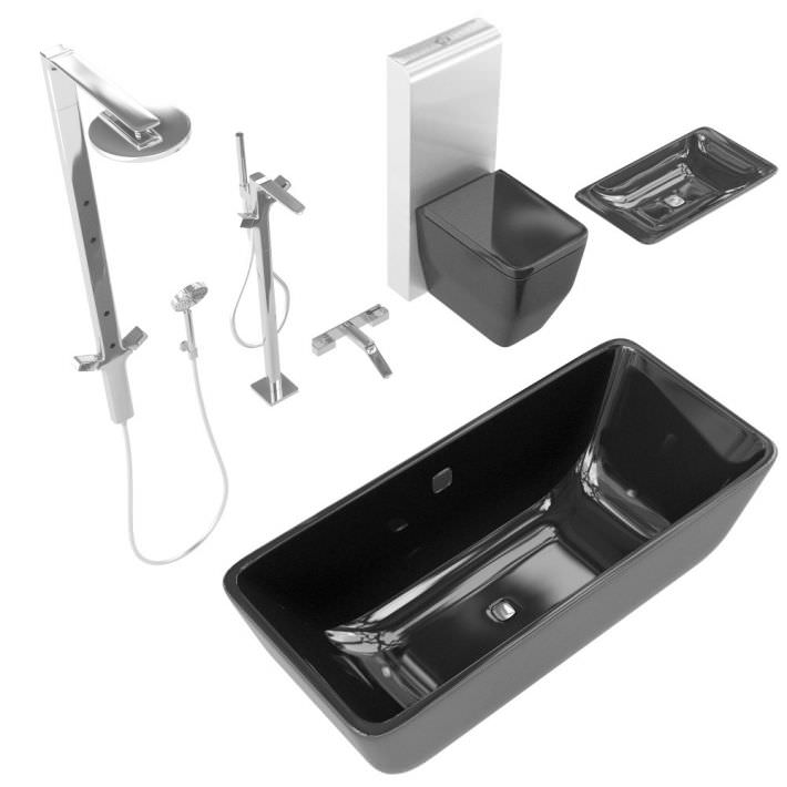 Bathroom Fixture Set 3D Model - CGTrader.com