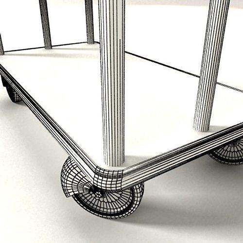 hotel luggage cart high detail 3d model max obj 3ds fbx mtl mat