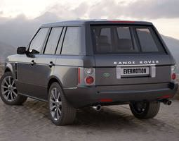3D Black Range Rover