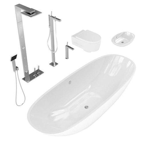 Elegant Eurolegno Bathroom Fixtures 3d Model Max 3d Models 405 Mb