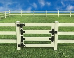 3D model Wooden fence high detail