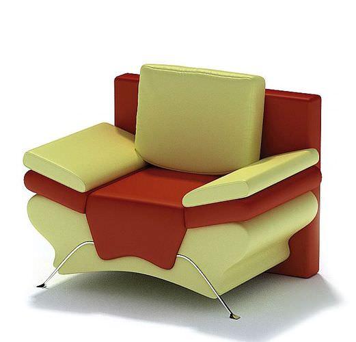 Multi Color Armchair3D model