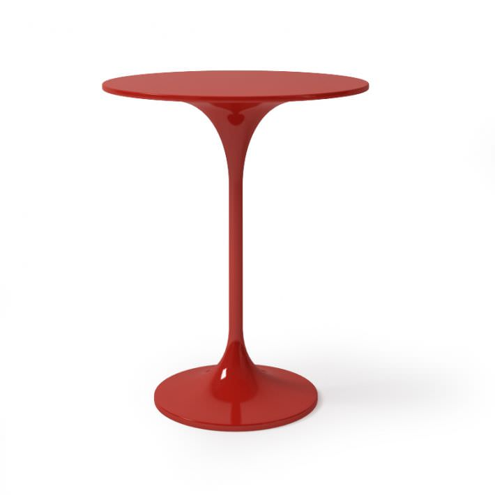 Exceptionnel Red Round Bar Table 3d Model Obj 1