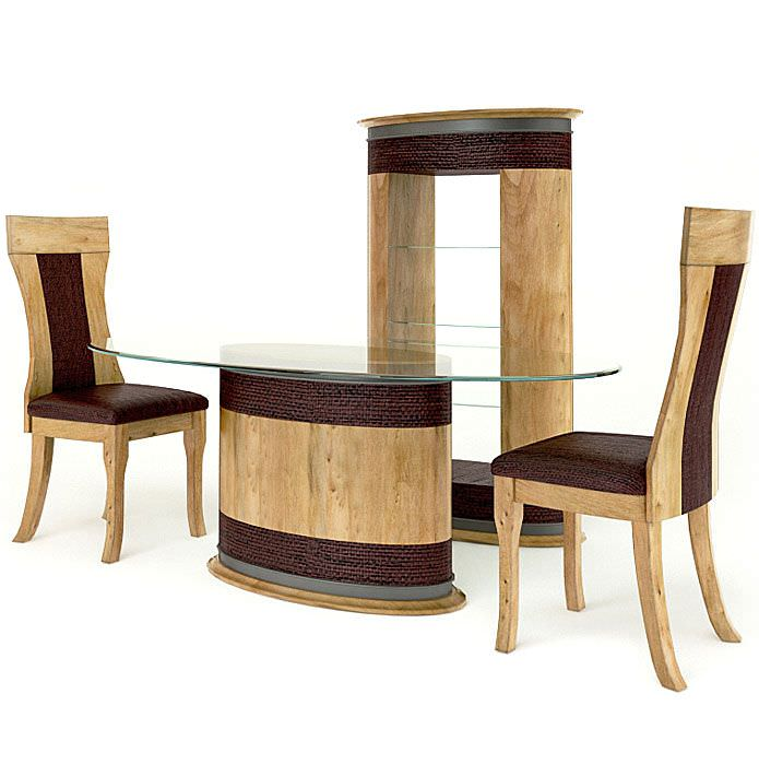 Wooden table chairs and shelving 3d model for New model wooden dining table