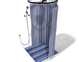 Bathroom Shower Cabin 3D Model