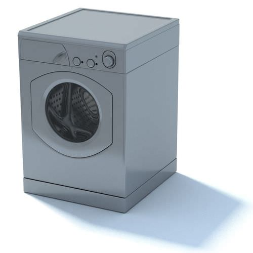 modern washing machine 3d model. Black Bedroom Furniture Sets. Home Design Ideas