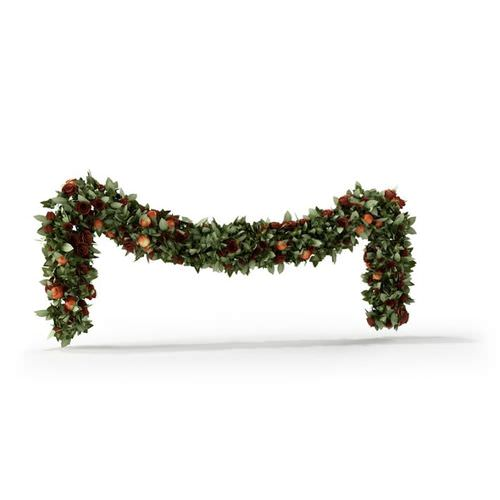 christmas garland 3d model obj