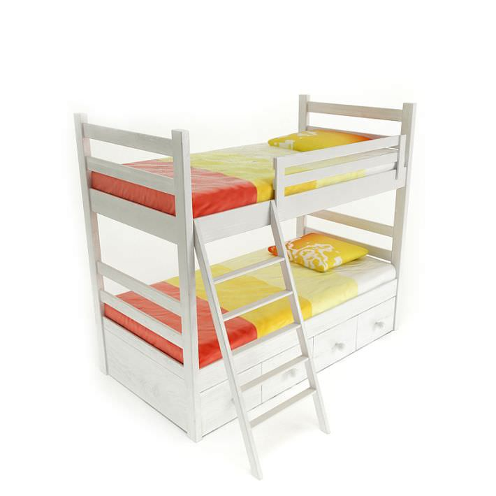 Twin Size Bunk Bed 3D Model CGTrader