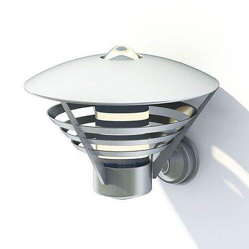 stainless garden lamp 3d model  1