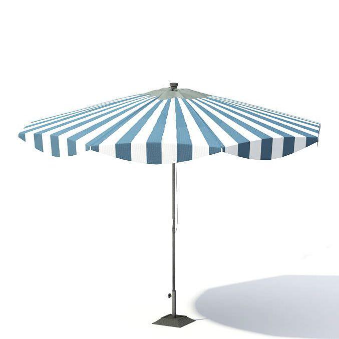 Garden Umbrella 3D model CGTrader