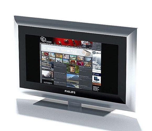 television   phillips flat screen 3d model max 1