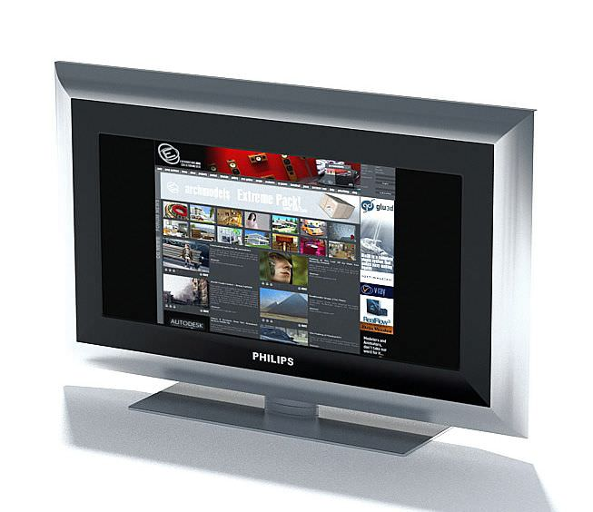 Television Phillips Flat Screen 3d Model Cgtrader Com