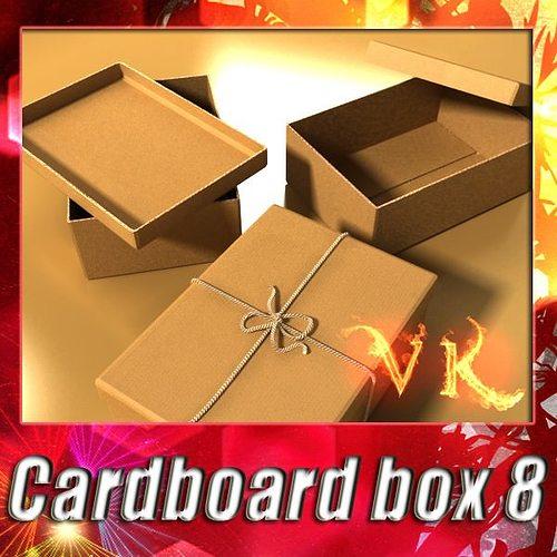photorealistic cardboard box 3d model max obj 3ds fbx mtl mat 1