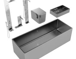Dark Bathroom Fixtures 3D