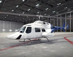 Large White Helicopter 3D Model