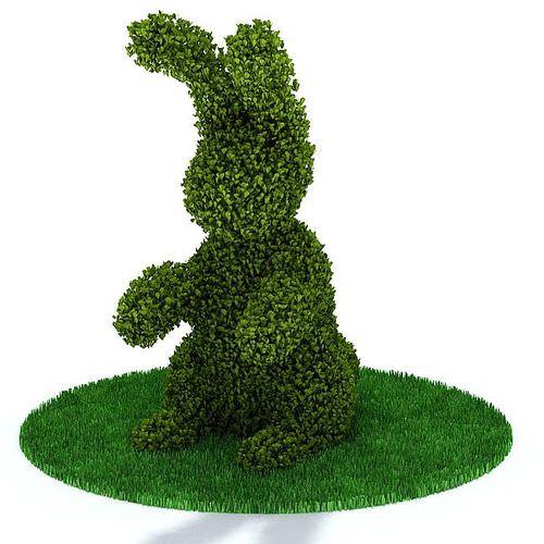 Green Rabbit Shaped Bush 3d Model Cgtrader Com