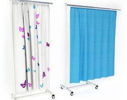 Hospital Curtains On Wheels 3D Model
