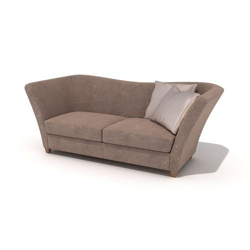 grey couch 3d model  1