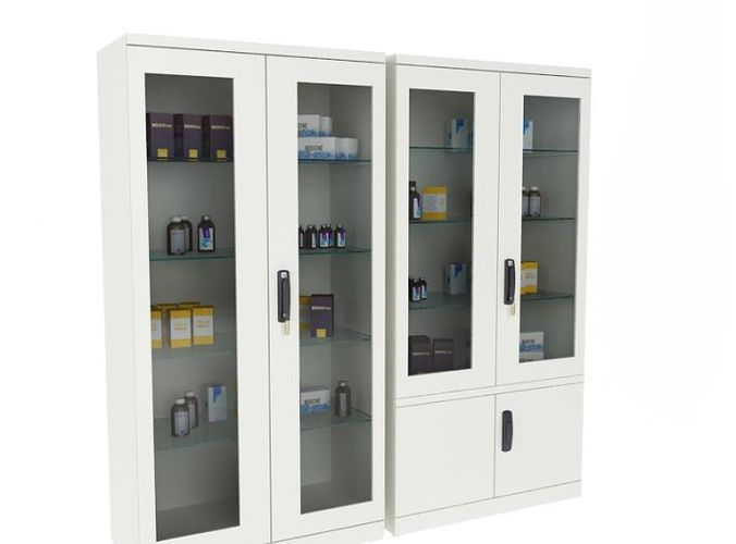 Hospital Equipment Cabinets3D model